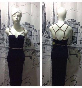 Темно-синее платье новое