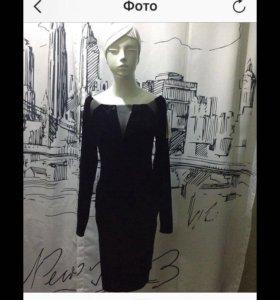 Бархатное винтаж платье новое