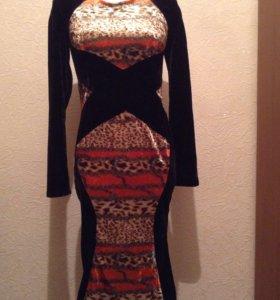 Бархат винтаж платье новое