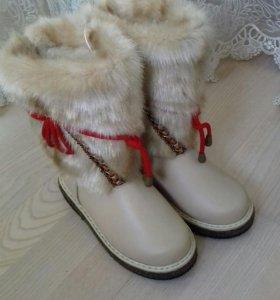 Новые натуральные зимние сапоги(унты)