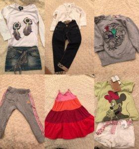 Одежда для девочки 2-4 годика
