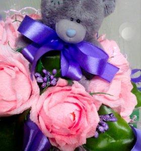Индивидуальный подарок из конфет и мягкой игрушки
