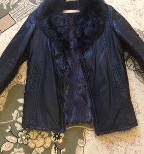 Куртка кожаная, зима. МУЖСКАЯ