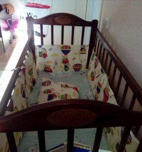 Кроватка детская( с матрацом , без бортиковз)