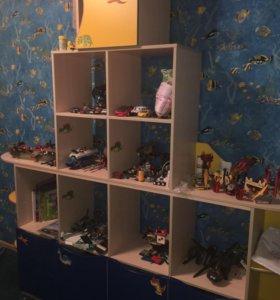 Детская мебель , шкаф горка, кровать и шторы
