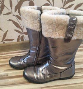 Зимние кожаные сапоги naturino