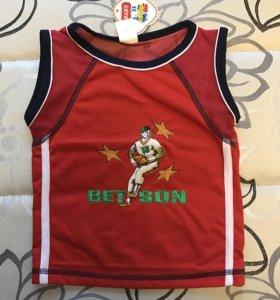 Новая футболка 86-92