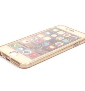 Двухсторонний силиконовый чехол для iPhone SE/5/5S