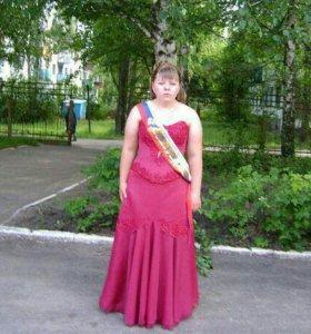 Красивое выпускное платье расшитой корсет и юбка