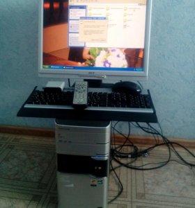 Системный блок, монитор, клавиатура, мышь, камера
