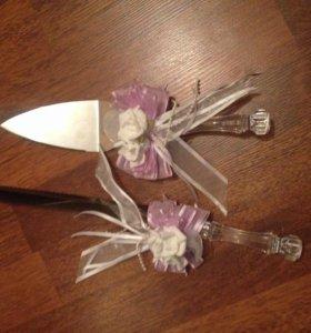 Свадебный нож и лопатка