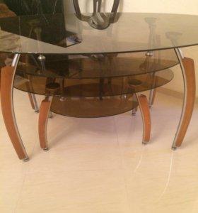 Большой стекл..стол(Два в одном)