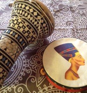 Барабан и бубен из Египта