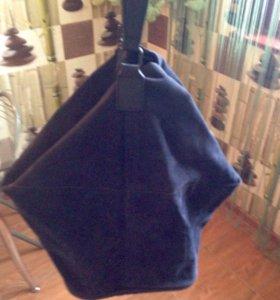 Замшевая сумка- мешок