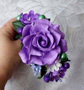 Ободок с розой