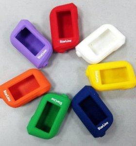 Чехлы цветные силиконовые для брелоков
