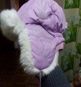 Детские зимние шапки 2 шт