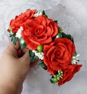 Ободок из роз