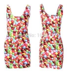 Платье 3D конфетки 44-48