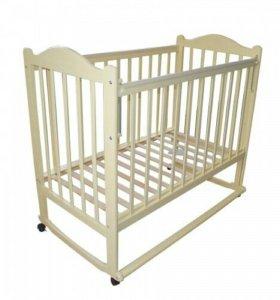 Детская кроватка + матрас   Ascona