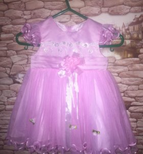 Платье нарядное, на 1-1,5 года