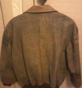 Куртка кожаная пилот