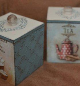 Короб для кофе чая, оригинальный подарок