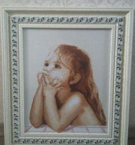 """Картина ручной работы """"Детские мечты"""""""