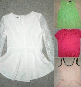 Блузы размер S, в том числе и новые