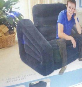 Надувное кресло кровать интекс.