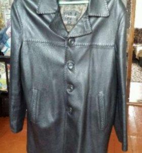 Удлинённый пиджак из натур. Кожи