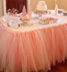 Юбка для стола. Декор свадьбы. Фатин. Драпировка