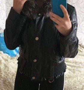 Куртка кожа и мех натурал