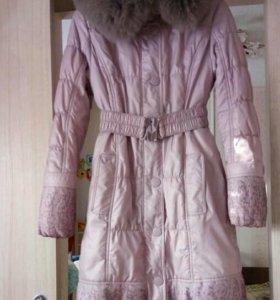 Зимнее пальто+шапка,шарф