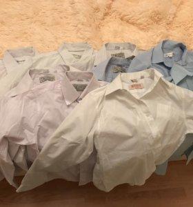 Рубашки для мальчика подростка 9 шт. Рост 140-158