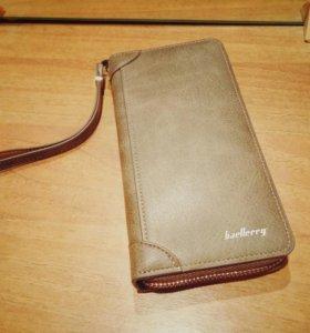 Мужское портмоне клатч кошелек Baellerry из кожи
