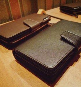 Мужской клатч портмоне кошелек Baellerry из кожи