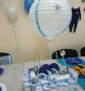 Воздушный шар из памперсов