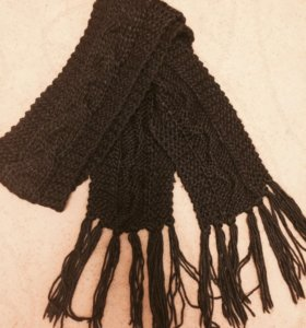 Шарф вязанный чёрный