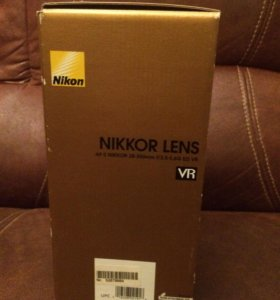 Объектив Nikon 28-300 mm AF-S 3.5-5.0