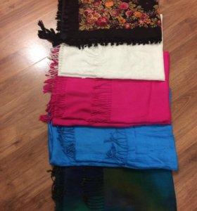 Палантины-шарфы и платок