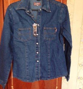 Новая джинсовая рубашка 42 ,44