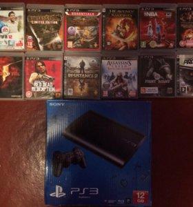 PlayStation 3 12GB 2 джойстика и 12 дисков