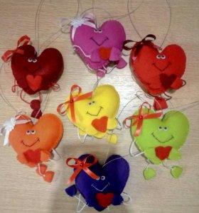 Игрушки сердечки (подарочки) для любимых