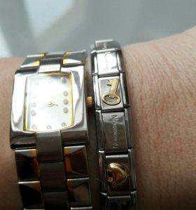 Часы romanson и браслет nomination