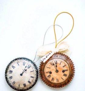 """Медальоны """"часики"""""""