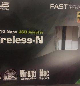 сетевая карта asus USB-N10 Nano