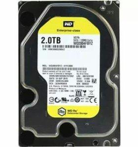 Новый жесткий диск 2 ТБ wd 2004fbyz
