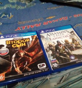 Диски для PS4 Assassin's Creed Unity и inFamous
