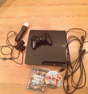 Игровая консоль Sony PS3 + 13 игровых дисков